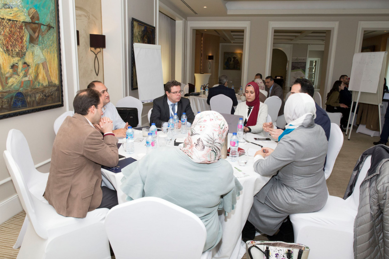 Roundtable discussion during the national kick-off workshop  © IDG